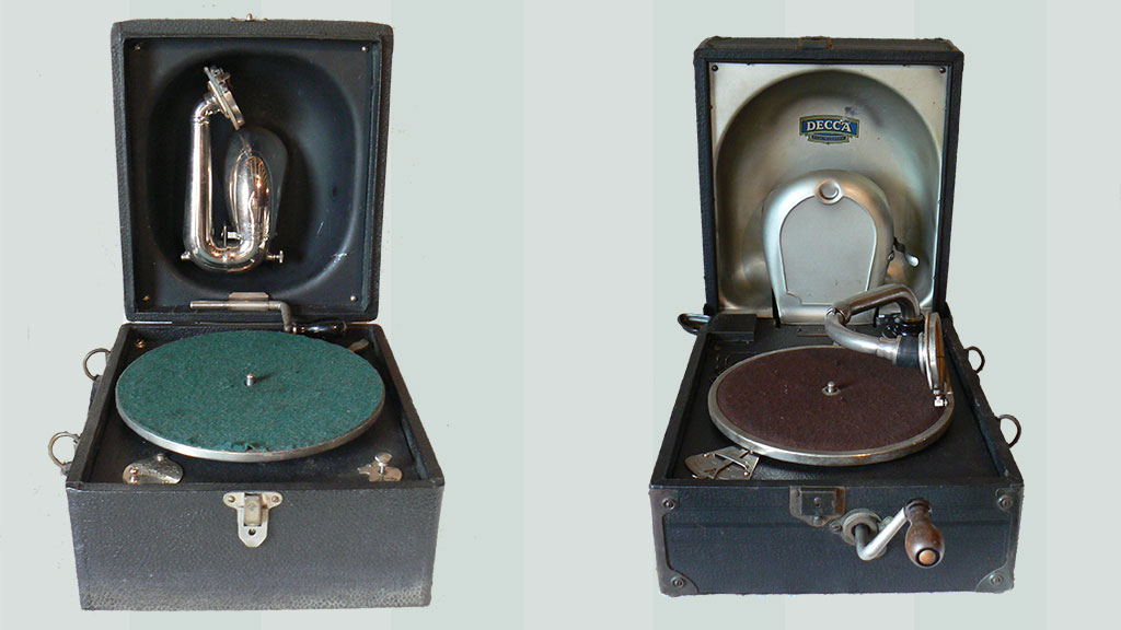 Decca 'Trench' Model C - 1923 and 'Art Deco' Decca -Late 1920s